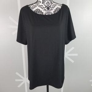 NWOT Black Mesh Back Cross Over T-Shirt from 18/20